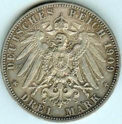 Монета > 3марки, 1908-1913 - Німецька імперія  - reverse