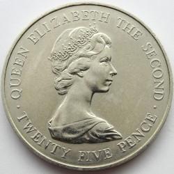 Münze > 25Pence, 1978 - Guernsey  (Königlicher Besuch) - obverse