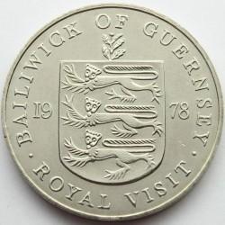 Münze > 25Pence, 1978 - Guernsey  (Königlicher Besuch) - reverse