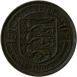 Münze > 1/12Schilling, 1923-1926 - Jersey   - reverse