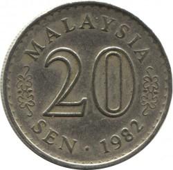 Coin > 20sen, 1967-1988 - Malaysia  - reverse