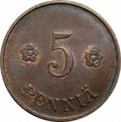 Münze > 5Penny, 1920 - Finnland  - reverse