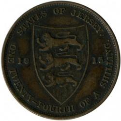 Moeda > 1/24shilling, 1911-1923 - Jersey  - reverse