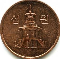 Moeda > 10won, 2006-2017 - Coreia do Sul  - obverse