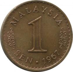 Coin > 1sen, 1967-1973 - Malaysia  - reverse