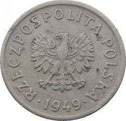 Minca > 10groszy, 1949 - Poľsko  (Copper-Nickel, 2g) - obverse
