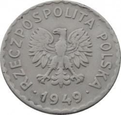 سکه > 1زلوتی, 1949 - لهستان  (Copper-Nickel, 7g) - obverse
