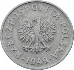 سکه > 20گروژی, 1949 - لهستان  (Aluminium, 1g) - obverse