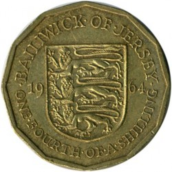 Coin > ¼shilling, 1964 - Jersey  - reverse