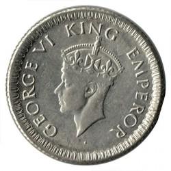 Moneta > ¼rupia, 1942-1943 - India Britannica  - obverse