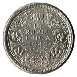 Moneta > ¼rupia, 1942-1943 - India Britannica  - reverse
