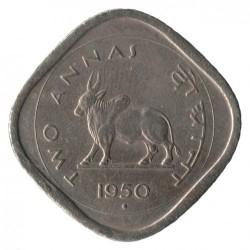Монета > 2анны, 1950-1955 - Индия  - reverse