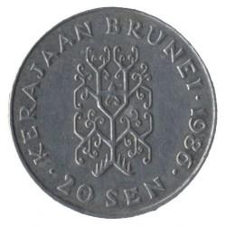 Minca > 20sen, 1977-1993 - Brunej  - obverse