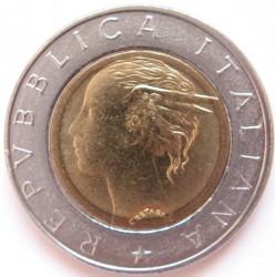 Coin > 500lire, 1994 - Italy  (500th Anniversary - Birth of Luca Pacioli) - obverse