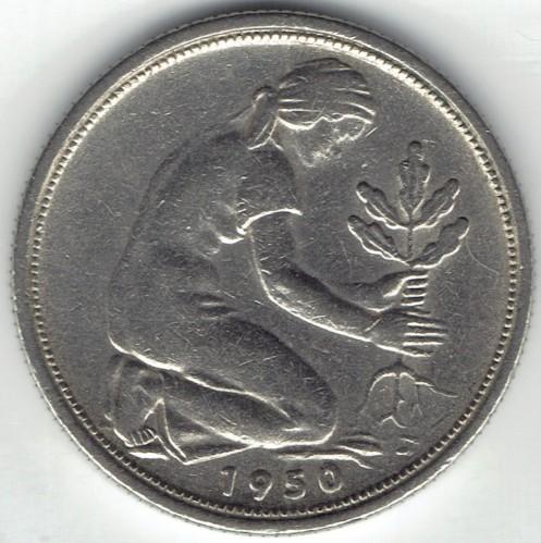 50 Pfennig 1950 1971 Deutschland Münzen Wert Ucoinnet