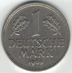 Coin > 1mark, 1965 - Germany  - obverse