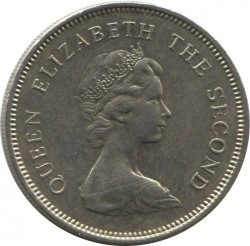 Mynt > 1dollar, 1978-1980 - Hong Kong  - obverse