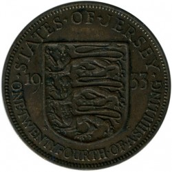 Coin > 1/24 shilling, 1931-1935 - Jersey  - reverse