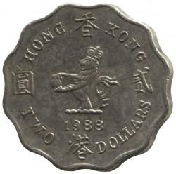 Mynt > 2dollars, 1985-1992 - Hong Kong  - reverse