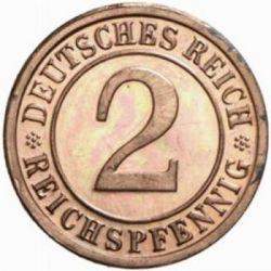 Moneda > 2reichspfennig, 1924-1936 - Alemania  - obverse