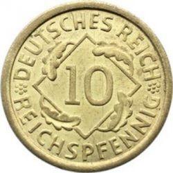 Moneda > 10reichspfennig, 1924-1936 - Alemania  - obverse