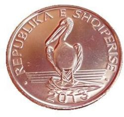 Moneda > 1lek, 2013 - Albania  - reverse
