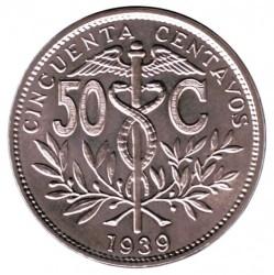 Münze > 50Centavos, 1939 - Bolivien  - reverse