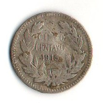 錢幣 > 5分, 1915-1919 - 智利  - obverse