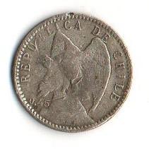 Moneta > 5centavos, 1915-1919 - Chile  - obverse