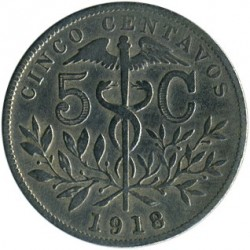 Moneta > 5centavos, 1918 - Boliwia  - obverse