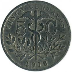 Moeda > 5centavos, 1918 - Bolívia  - reverse