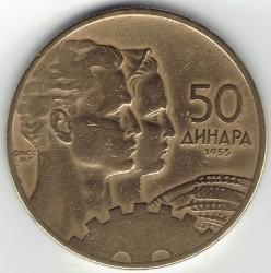 Moneta > 50dinarów, 1955 - Jugosławia  - obverse