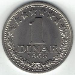 Münze > 1Dinar, 1965 - Jugoslawien  - reverse