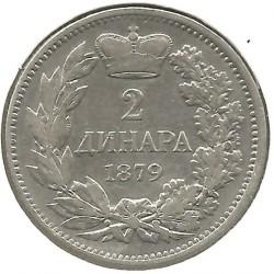 Монета > 2динара, 1879 - Сербия  - reverse
