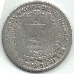 سکه > ½بولیوار, 1944-1946 - ونزوئلا  - obverse