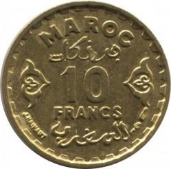 Монета > 10франка, 1952 - Мароко  - reverse