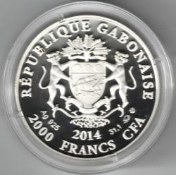 Moneta > 2000franków, 2014 - Gabon  (Znaki zodiaku - Byk) - obverse
