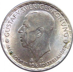 Pièce > 1krona, 1942-1950 - Suède  - obverse