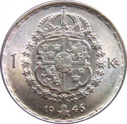 Pièce > 1krona, 1942-1950 - Suède  - reverse