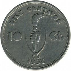 Moneda > 10centavos, 1937 - Bolivia  - reverse