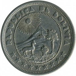 Münze > 10Centavos, 1937 - Bolivien  - reverse
