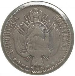Moneta > 1bolivianas, 1867-1869 - Bolivija  - obverse