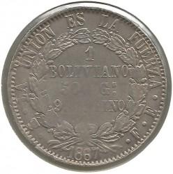 Moneta > 1bolivianas, 1867-1869 - Bolivija  - reverse