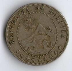Münze > 5Centavos, 1908 - Bolivien  - obverse