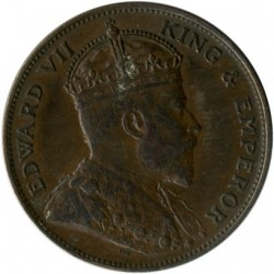 Coin > 1/24 shilling, 1909 - Jersey  - obverse
