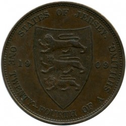 Coin > 1/24 shilling, 1909 - Jersey  - reverse