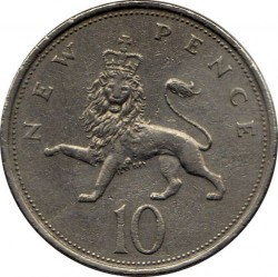 Coin > 10newpence, 1968-1981 - United Kingdom  - reverse