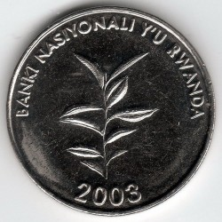 Moneda > 20francos, 2003 - Rwanda  - obverse