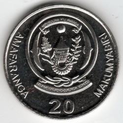 Moneda > 20francos, 2003 - Rwanda  - reverse
