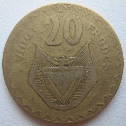 1 Franc Rwanda 1977